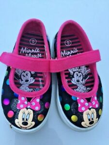 DISNEY STORE Walt Disney MINNIE MOUSE Mary Janes Ballet Flats Shoes Sz 6 T 👞6