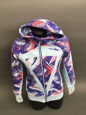 IVIVVA By LULULEMON Girls Hoodie Scuba Sports Jacket Blue Pink Multi Size 12