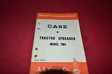 Case Tractor TW9 Manure Spreader Operator's Manual DCPA