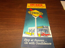 1963 Sunoco Ontario Vintage Road Map