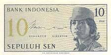 Indonesia 10 Sen 1964 P 92a Prefix Cgd Uncirculated Banknote , G 11