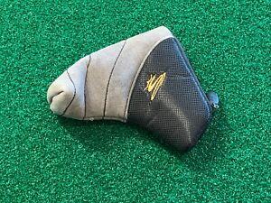 COBRA GOLF BLADE PUTTER HEADCOVER - Black Gray Gold Zipper Head Cover