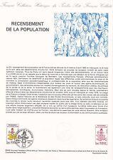 Document Philatélique Timbre 1er Jour : 27/02/ 1982 - Recensement Population