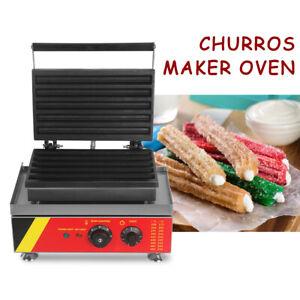 Commercial Electric Churros Maker Baker 5pcs Spanish Donut Churros Size 295*25MM