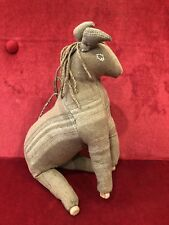 Antique 19th Century Amish Hand Made Stuffed Horse Toy with Clothespin Legs