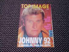 """Johnny Hallyday """"Top image""""  n°2  1992 (Poster Géant JH en Moto)"""