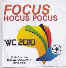 Focus-hocus Pocus wc 2010 promo cd single