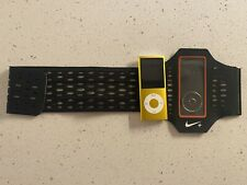Apple iPod Nano 4th Generation - Yellow 16GB - WORKING Bundled w/Nike+ Arm Band