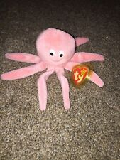 Ty Beanie Babies Inky the Octopus PVC Pellets Tag Error - Retired 1993