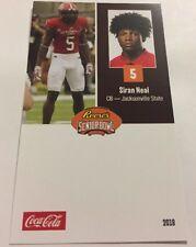 Siran Neal 2018 Senior Bowl Football Card Jacksonville State NFL Draft