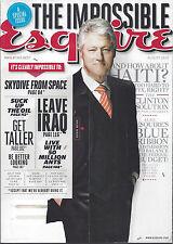 Esquire magazine - Aug 2010 - Bill Clinton, Deborah Ann Woll, Ana de la Reguera