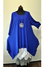 Designer Lagenlook a-Line Royal Blue Gr.5 58,60, XXXXL, XXXXXL