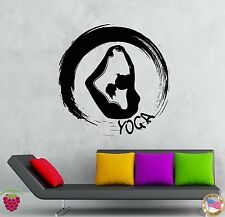 Wall Stickers Vinyl Decal Yoga Fitness Zen Sport Decor For Girls  (z2095)