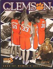 2006-07 Clemson University Women's Basketball Media Guide