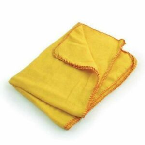 """5 Pcs Extra Large 21"""" x 15"""" Cotton Yellow Dusters Cleaning Cloth 100% Cotton New"""