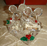 Lenox 2007 BLESS THIS HOUSE MOUSE GLASS ORNAMENT Christmas