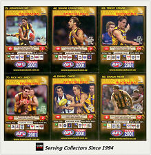2001 Teamcoach Trading Cards Base Prize Team Set Hawthorn (6)
