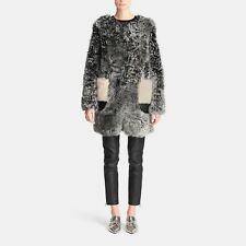 COACH New York Women Gray Curly Shearling Coat NWT Size L MSRP 1795$+TAX