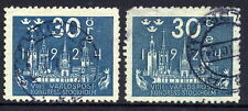 SWEDEN 1924 UPU Congress 30 öre greenish blue used