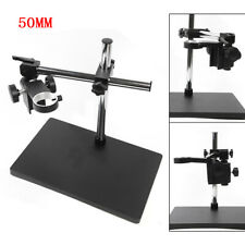 New Listing50mm Holder Ring Microscope Adjustable Heavy Duty Metal Boom Stereo Table Stand