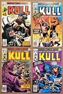 KULL, THE DESTROYER #23, 24, 25, 27 (Marvel, 1977/78) VG+ 4.5 to NM- 9.2