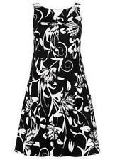 Sheego Style @ Kaleidoscope Plus Size 24 Black White Floral DRESS Evening  £75