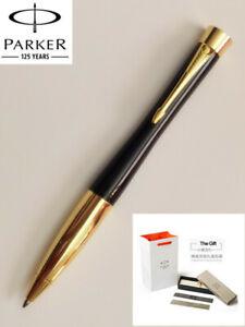 Parker Urban Series Ballpoint Pen Bright Black Gold Trim With 0.7mm Blue Refills