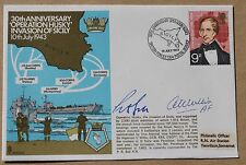 OPERATION HUSKY INVASION SICILY 30TH ANNIV 1973 COVER SIGNED BY WILLIS & BELL