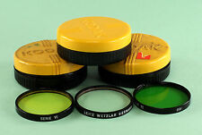 Leica Filters Series 6, Green, Yellow 1 & UVa, in off brand plastic containers