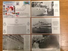 2 Signed FDC - LADY IN WHITE - Durban, South Africa WW2 - HMS VERDUN & REDOUBT
