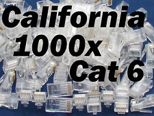 Lot 1000 X RJ45 Network CAT6 8P8C Connector Modular End Plug LAN Cable Ethernet