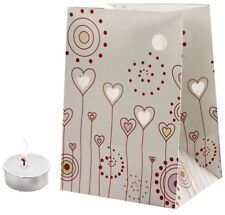 CANDLE BAGS HEARTS AND FLOWERS - 5 Pack