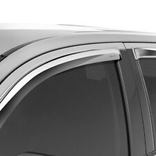 For Nissan Titan 04-15 Tape-Onz Chrome Front & Rear Sidewind Deflectors