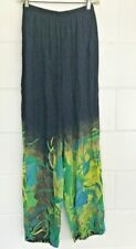 Anthony Mark Hankins Collection PANTS size Large Lg L Blue/Green ART-TO-WEAR