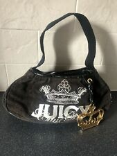 Vintage Juicy Couture Brown Hand/Shoulder Bag With Gold Colour Crown Charm