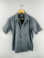 Kathmandu Enact Men's Short Sleeved Button Up Casual Shirt Size M Green