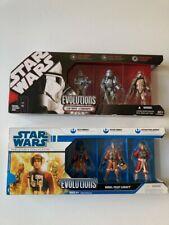 "Star Wars Hasbro ""Evolutions-Set Clonetrooper/Stromtrooper & Rebel Pilot Legacy"""