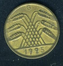 GERMANY DEUTSCHES REICH  1925G  10 PFENNIG  COIN
