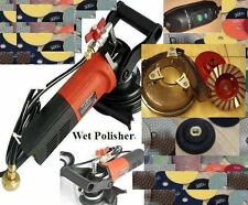 220V Stone Wet Polisher DUST FREE 2 Cup 30 Pad FREE SHIP Europe Australia UK