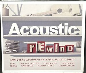 ACOUSTIC REWIND - VARIOUS ARTISTS, DOUBLE CD ALBUM, (2016), NEW & SEALED.
