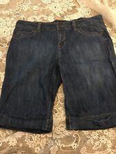 Calvin Klein Jeans Cuffed  Shorts Ladies Sz 16 Med Wash