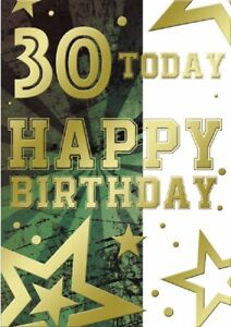 30 Today Happy Birthday Card.Two Designs. For Male or Female