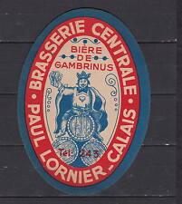 Ancienne étiquette  Alcool  France Bière Brasserie Centrale Calais