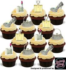 Novelty Bling Silver Handbag Shoe Mix 36 Party Pack Edible Cake Toppers Birthday