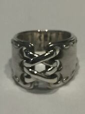AUTHENTIC Hermes Beautiful Corset Sterling Silver 925 Ring Size 3.5
