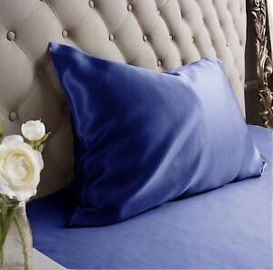 Jasmine Silk Pure Silk Pillow case Navy