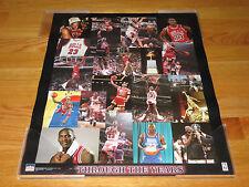 1998 Starline MICHAEL JORDAN Collage Mini 16x20 Poster CHICAGO BULLS