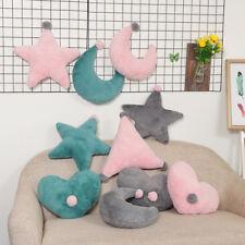 Home Baby Room Sofa Cushion Star Moon Heart Triangle Soft Travel Plush