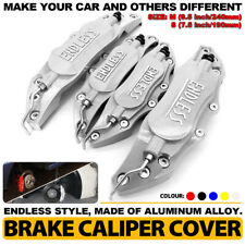 Silver ENDLESS Brake Caliper Cover Metal Style Disc Universal Car Front Rear Kit