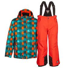 Kinderskianzug killtec orange kariert 128 Schneeanzug Skiset Jungen 8000mm WS